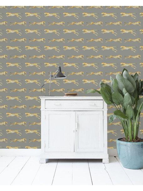 Leopard Grey Wallpaper