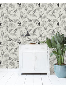 Tropic Tucan Cream Wallpaper