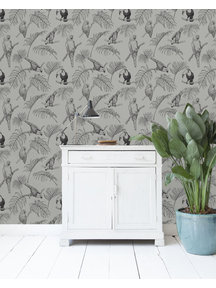 Tropic Tucan Taupe Behang