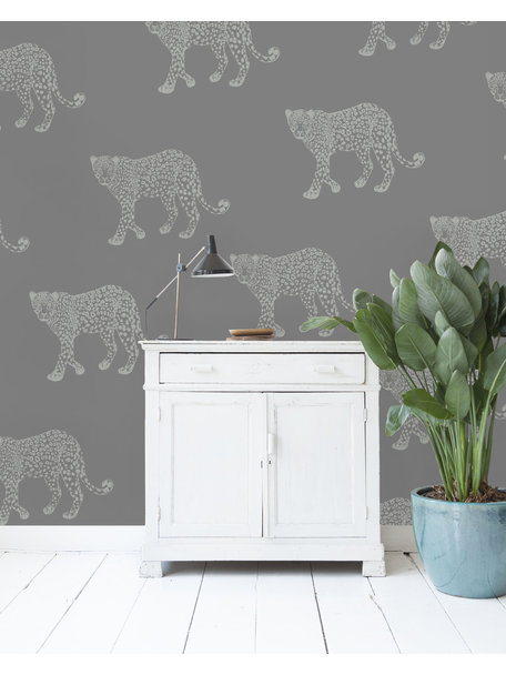 Panther Grey Behang