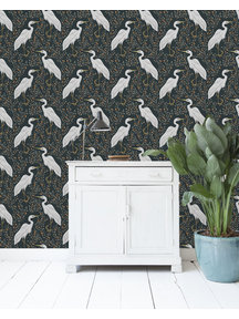 White Heron Dark Wallpaper