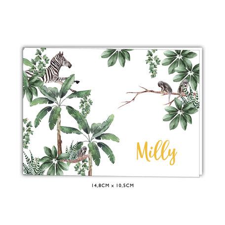 Creative Lab Amsterdam Birth Announcement Card - Baby Monkeys 148x105