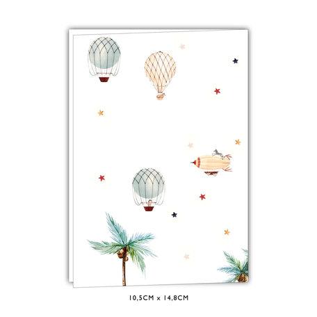 Creative Lab Amsterdam Geboortekaartje - Balloon 148x105