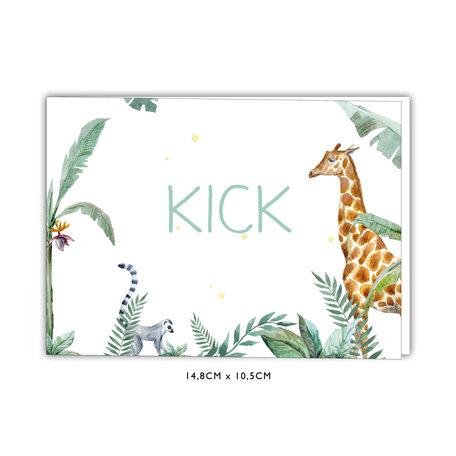 Creative Lab Amsterdam Baby Announcement Card - Giraffe Boy 148x105