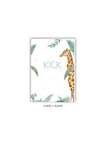 Creative Lab Amsterdam Baby Announcement Card - Giraffe Boy 74x105