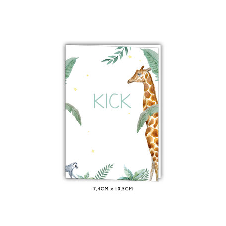 Creative Lab Amsterdam Baby Announcement Card - Giraffe Boy 74x105