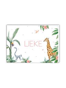 Creative Lab Amsterdam Baby Announcement Card - Giraffe Girl 148x105