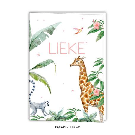 Creative Lab Amsterdam Geboortekaartje - Giraffe Girl 105x148