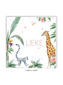 Creative Lab Amsterdam Geboortekaartje - Giraffe Girl 148x148