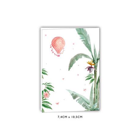 Creative Lab Amsterdam Baby Announcement Card - Giraffe Girl 74x105