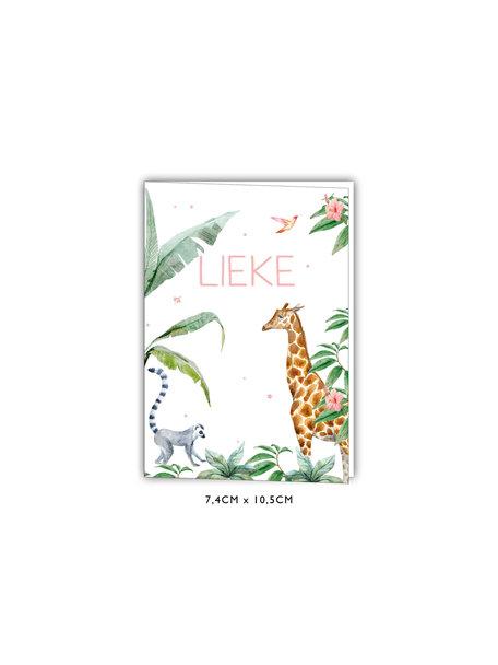 Creative Lab Amsterdam Giraffe Girl Baby Card 74x105 Mini stand up