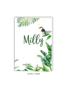 Creative Lab Amsterdam Baby Announcement Card - Tiger Jungle 105x148