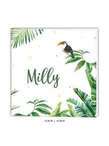 Creative Lab Amsterdam Baby Announcement Card - Tiger Jungle 148x148