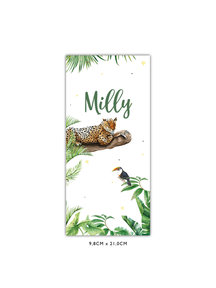 Creative Lab Amsterdam Baby Announcement Card - Tiger Jungle 98x210