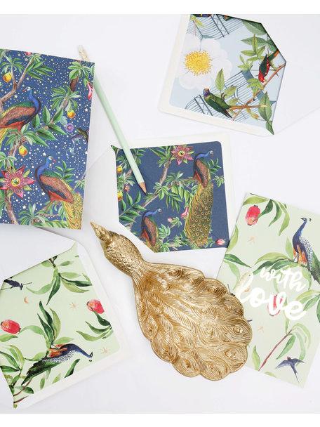 Creative Lab Amsterdam Passion Peacock Wenskaart - Bonne Chance