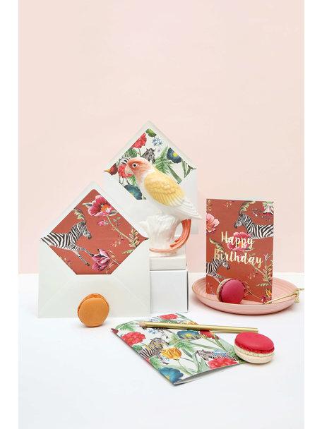 Creative Lab Amsterdam Happy Poppy Greeting Card - Joyeux Anniversaire