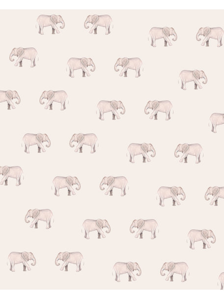 Creative Lab Amsterdam Safari Elephants Wallpaper