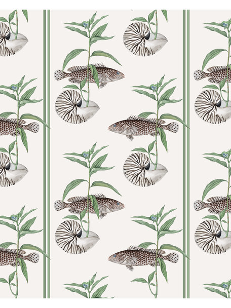 Creative Lab Amsterdam Fish & Shell Wallpaper