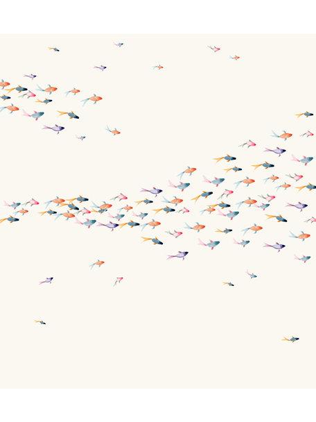 Creative Lab Amsterdam School Fish Wallpaper