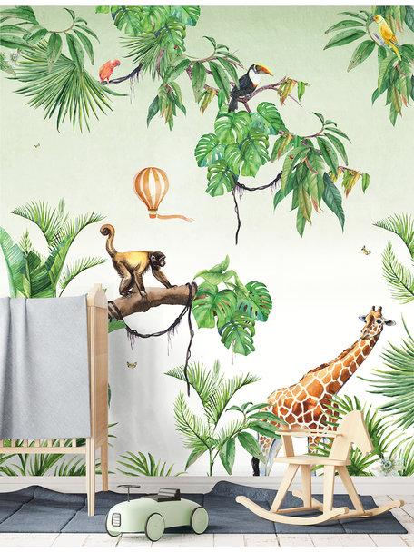 Monkey Jungle Behang