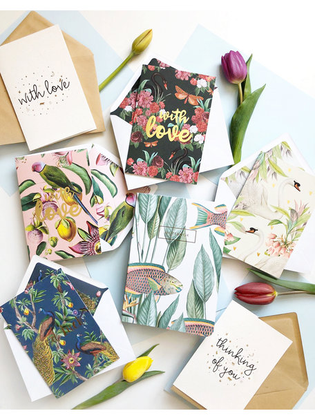 Creative Lab Amsterdam Take Care package greeting cards & notebook 'Stay at Home'