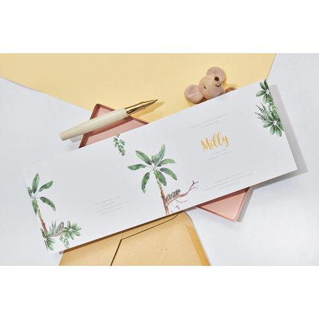 Creative Lab Amsterdam Birth Announcement Card - Baby Monkeys 148x148