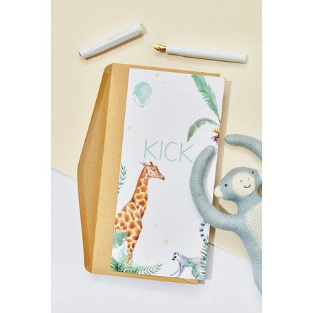 Creative Lab Amsterdam Geboortekaartje - Giraffe Boy 98x210