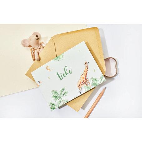 Creative Lab Amsterdam Baby Announcement Card - Monkey Jungle 148x148