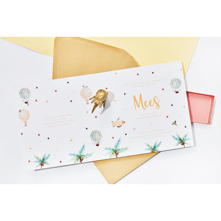 Creative Lab Amsterdam Birth Announcement Card - Balloon 105x148
