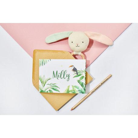 Creative Lab Amsterdam Baby Announcement Card - Jungle Tiger 148x148