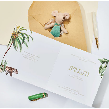 Creative Lab Amsterdam Baby Announcement Card - Walk in the park 148x105