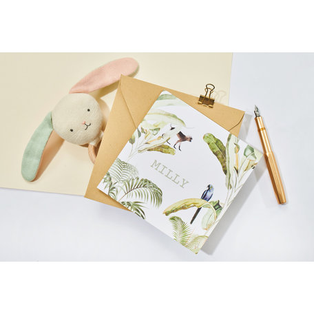 Creative Lab Amsterdam Birth Announcement Card - Baby Bananas 74x105
