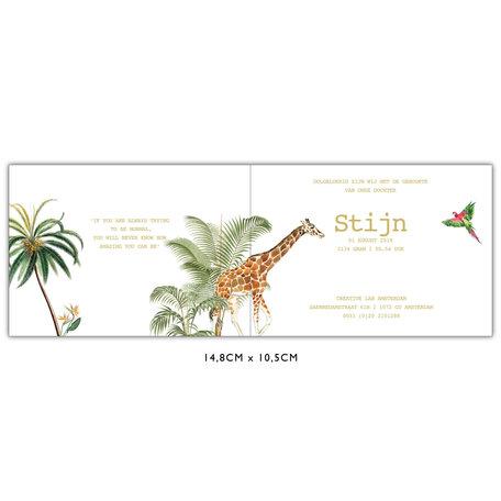 Creative Lab Amsterdam Birth  announcement Card  - Binti Home 148x105