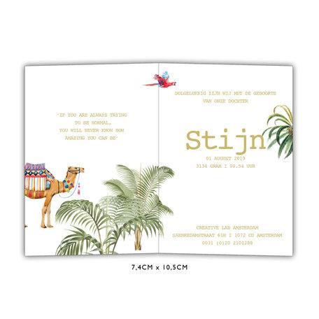 Creative Lab Amsterdam Birth  announcement Card - Binti Home 74x105