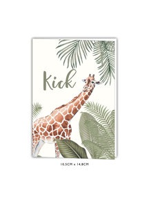 Creative Lab Amsterdam Baby Announcement card - Into the wild 105x148