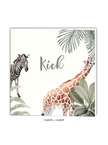 Creative Lab Amsterdam Baby Announcement - Into the wild 148x148 Square