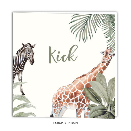 Creative Lab Amsterdam Baby Announcement - Into the wild 148x148 Square