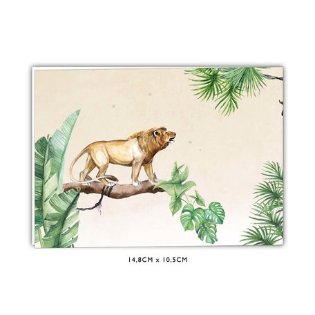 Creative Lab Amsterdam Baby Announcement Card - King of the Jungle 148x105