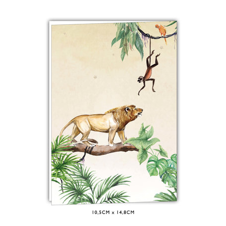 Creative Lab Amsterdam Baby Announcement Card - King of the Jungle 105x148