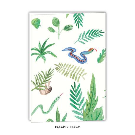 Creative Lab Amsterdam Baby Announcement Card   - Watercolour 105x 148