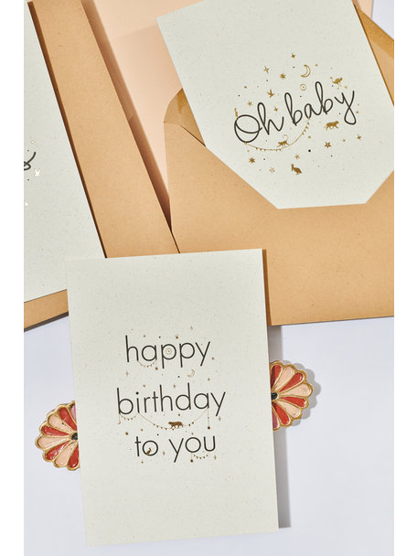 Creative Lab Amsterdam Elephant Grass Greeting Card - Happy Birthday to you