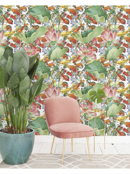Creative Lab Amsterdam Lily Fishes Wallpaper