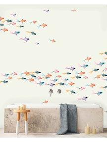 Creative Lab Amsterdam School Fish Badkamer Behang