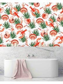 Creative Lab Amsterdam Fruits de Mer Bathroom Wallpaper