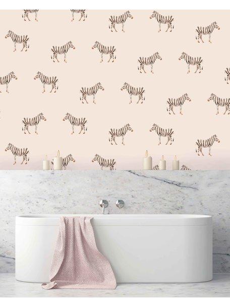 Safari Zebra Behang