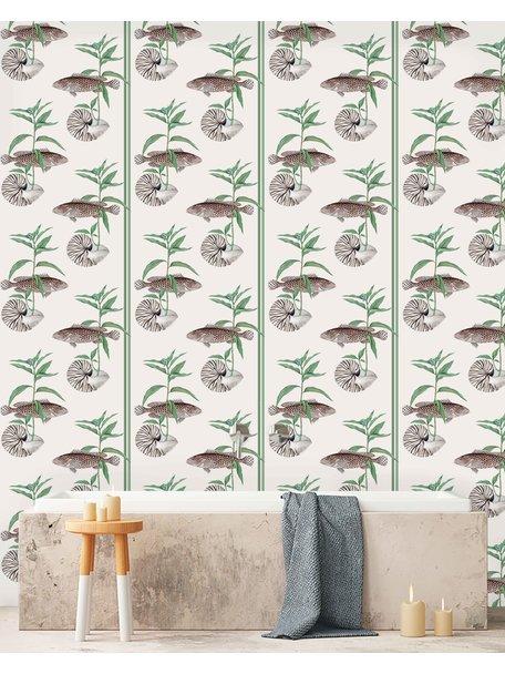 Creative Lab Amsterdam Fish & Shell Bathroom Wallpaper