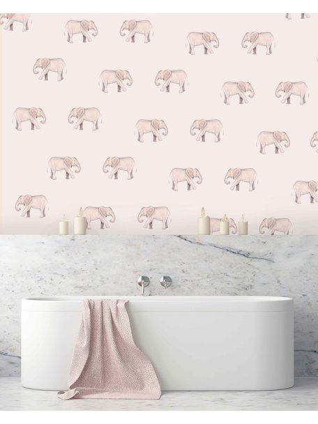 Creative Lab Amsterdam Safari Elephants Bathroom Wallpaper
