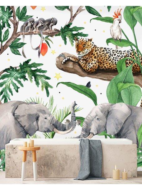Creative Lab Amsterdam Rebecca Boektje - Ravi Bathroom Wallpaper