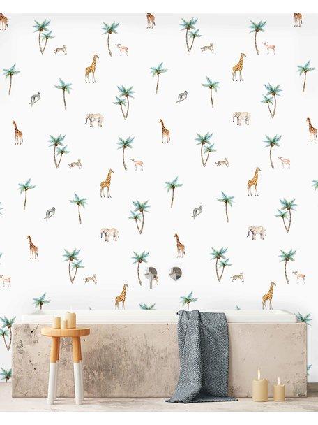 Creative Lab Amsterdam Savannah Palmtree Bathroom Wallpaper