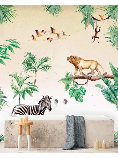 Creative Lab Amsterdam King of the Jungle Badkamer Behang setting